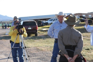 Emmy Award Winner Ginger Kathrens confronted by cattleman McNabb and crew