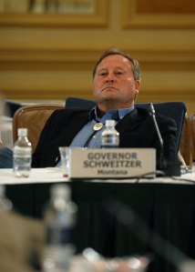 Montana's Governor, Brian Schweitzer, played at the Kentucky Derby while Horse Killing bill became law