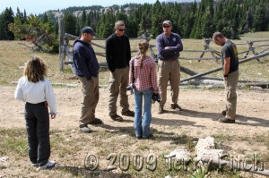 Wild Horse advocates Susan Sutherland and Monika Courtney question Park Service and BLM personnel