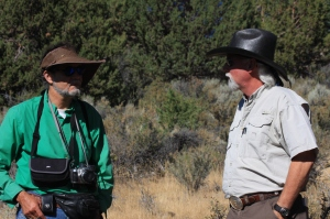Craig Downer and R.T. Fitch at Twin Peaks Roundup ~ photo by Terry Fitch of Wild Horse Freedom Federation