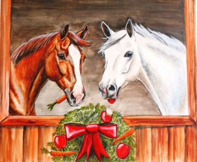 Christmas Horse Pictures.Christmas Eve In The Barn Straight From The Horse S Heart