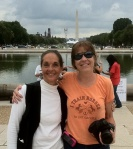Marjorie Farabee and Terry Fitch (The Dynamic Duo from WHFF) protesting in D.C. ~ photo by R.T. Fitch