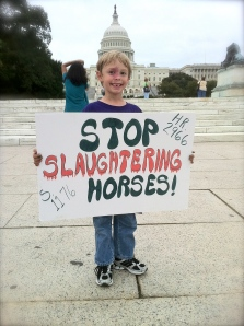 Americans say NO to Horse Slaughter in U.S. ~ photo by R.T. Fitch
