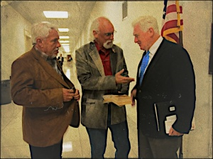 Jerry Finch (Habitat for Horses), R.T. Fitch (Wild Horse Freedom Federation), with Rep. Jim Moran (U.S. Congress) discussing issues in the halls of Congress