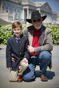 Declan in D.C. with Author/president of Wild Horse Freedom Federation R.T. Fitch (R.T.'s favorite photo) ~ by Terry Fitch of Wild Horse Freedom Federation