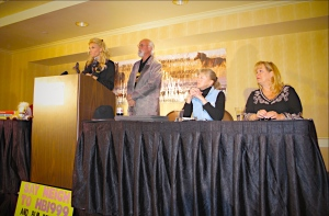 Simone Netherlands, R.T. Fitch, Ginger Kathrens and Lisa Friday ~ photo by Terry Fitch