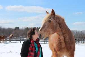 Susan Wagner, of Equine Advocates, and Mariclare ~ photo by Karen Wagner