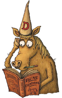 Image result for picture of a dunce riding a donkey