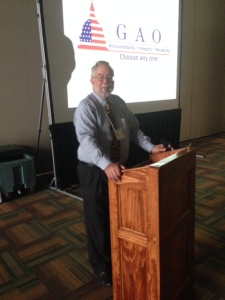 John Holland, President of the Equine Welfare Alliance, speaking at the International Equine Convention in Sept. 2013
