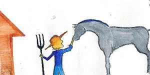 Farmer and Horse
