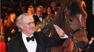 "Steven Spielberg, director of Oscar-nominated film ""Warhorse"" paid tribute to Warrior."