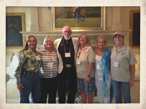 The entire Board of Directors of co-sponsor Wild Horse Freedom Federation in attendance.  Left to right, Marjorie Farabee, Carol Walker, R.T. Fitch, Debbie Coffey, Dawn Reveley and Terry Fitch.
