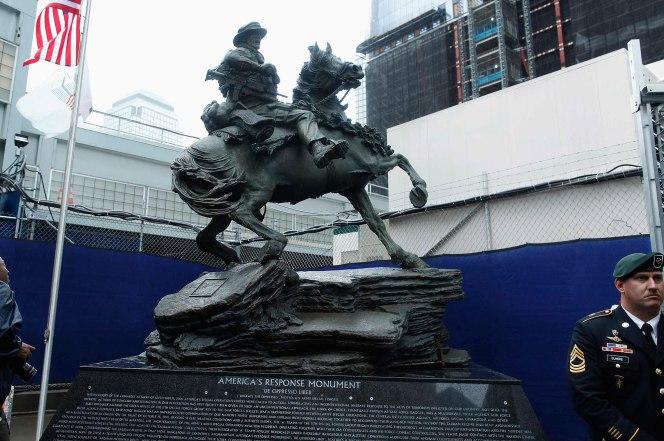 The Horse Soldier Monument statue Photo: Reuters