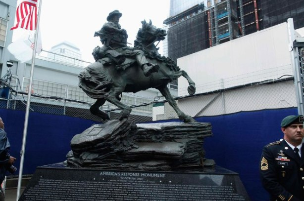 The Horse Soldier Monument statue Photo: Reuters