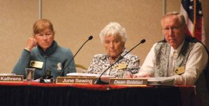 BLM Advisory Board - Ginger Kathrens (left) stuck in a very painful purgatory - Elko Daily Free Press Photo